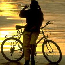 Woman with bike *c) Frank Clarkson