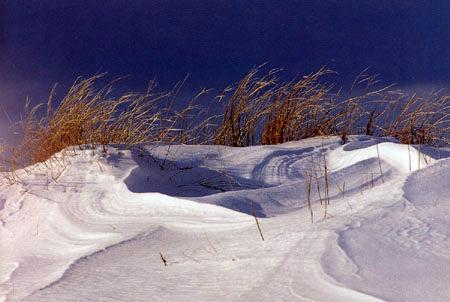 Snowdrifts at Plum Island by Micahel Hubley
