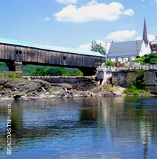 Wooden (not a toll) bridge in Bath, NH by J. Dennis Robinson/ SeacoastNH.com