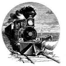 Train through the Farm