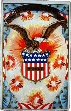 Eagle, fireworks and flag / SeacoastNH.com