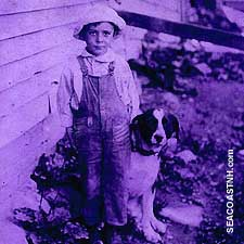 Unknown Portsmouth, NH boy and dog / SeacoastNH.com