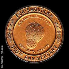 Portsmouth NH 350th anniversary strawberry coin