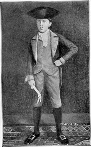 Drawing of Aldrich in Revolutionary regalia / SeacoastNH.com