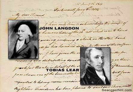 Langdon Letter to Lear 1814 / SeacoastNNH.com
