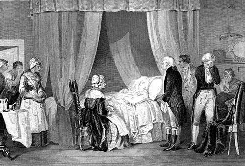 Death of Washington, 19th Cnetury engraving
