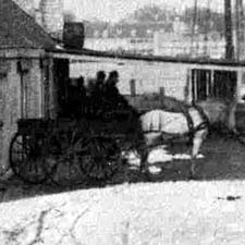 Horsecart on Long Wharf, Portsmouth, NH about 1890 / Strawbery Banke Archive