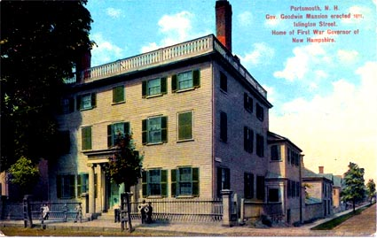 Goodwin Mansion in an early postcard / SeacoastNH.com