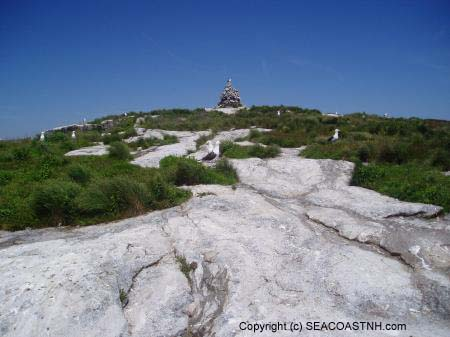 View of stone cairn on Isles of Shoals (c) SeacoastNH.com