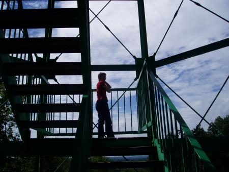 Climbing Garrison Tower / SeacoastNH.com