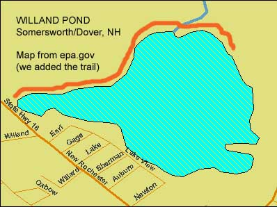 EPA map of Willand Pond, New Hampshire