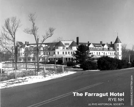Farragut Hotel in its final days/ Rye, NH / Rye Historical Society on SeacoastNH.com