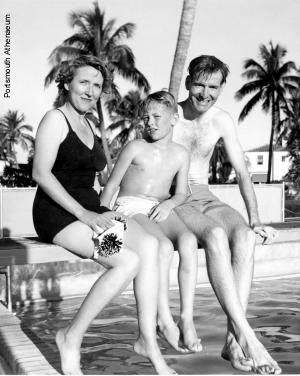 Smith Family at Wentworth by the Sea pool