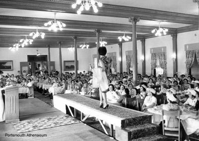 Fashion show in the old (now gone) Colonial Dining Room