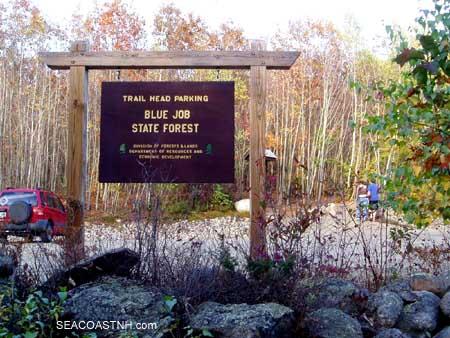 Parking lot at Blue Job trail Head/ SeacoastNH.com